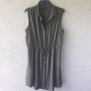 Mossimo Green Button Down Dress with Pockets